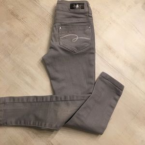 Justice premium jeans skinny. Size 7S. Gray.